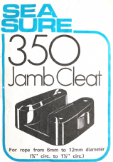 Sea Sure 350 Jamb Cleat 6 - 12mm